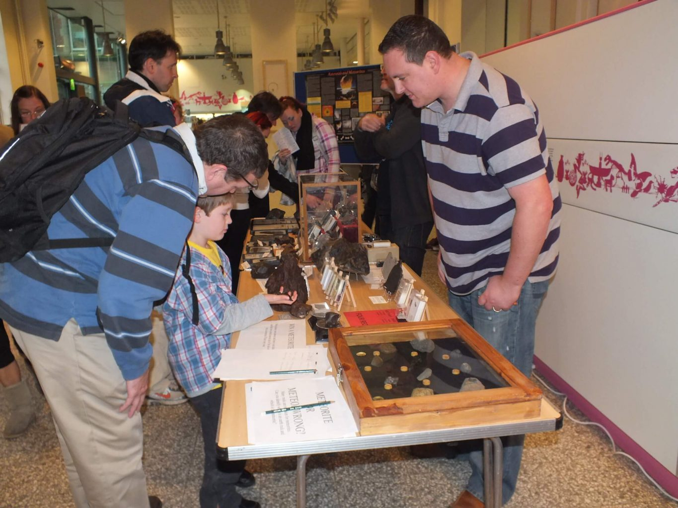 Luther with the popular 'guess the meteorite' competition with meteorites as prizes :-)