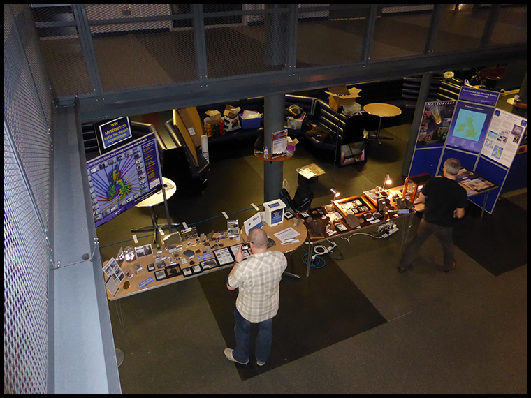 Myself,  Graham and Luther busy setting up before the public is let in.(Copyright Luther Jackson)