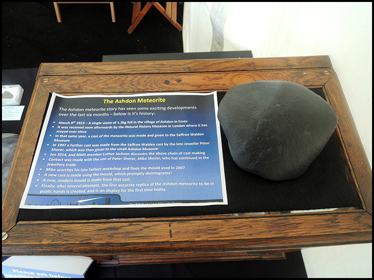 The Ashdon meteorite cast.
