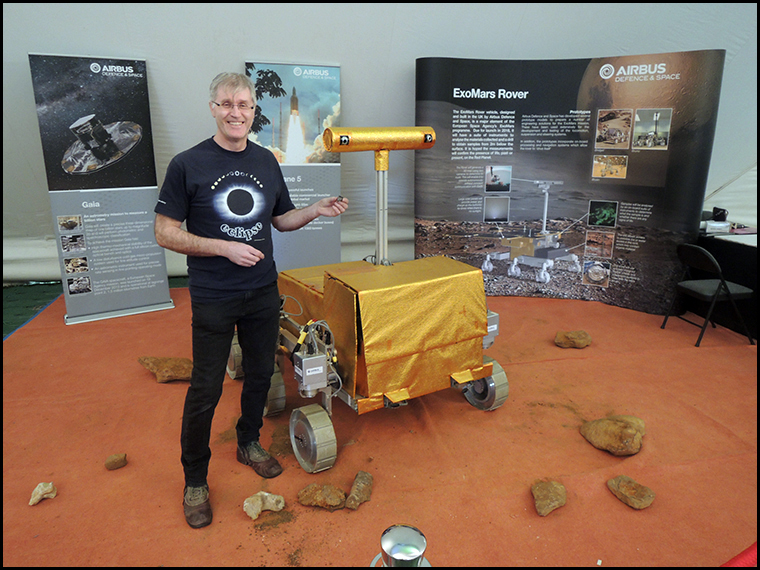 Graham, a chunk of Mars and the Exo Mars rover :-) The ExoMars rover has been designed and built in the UK and is due to be launched in 2018.