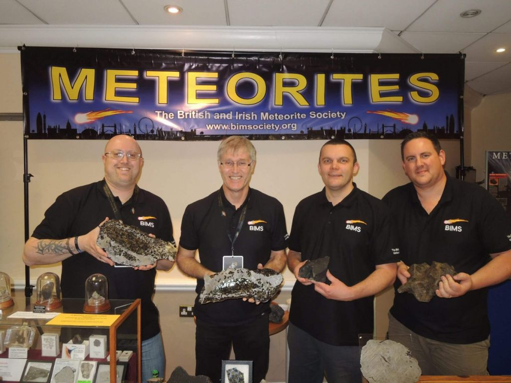 BIMS members Martin Goff, Graham Ensor, Matt Smith and Luther Jackson at CosmicCon 2015.