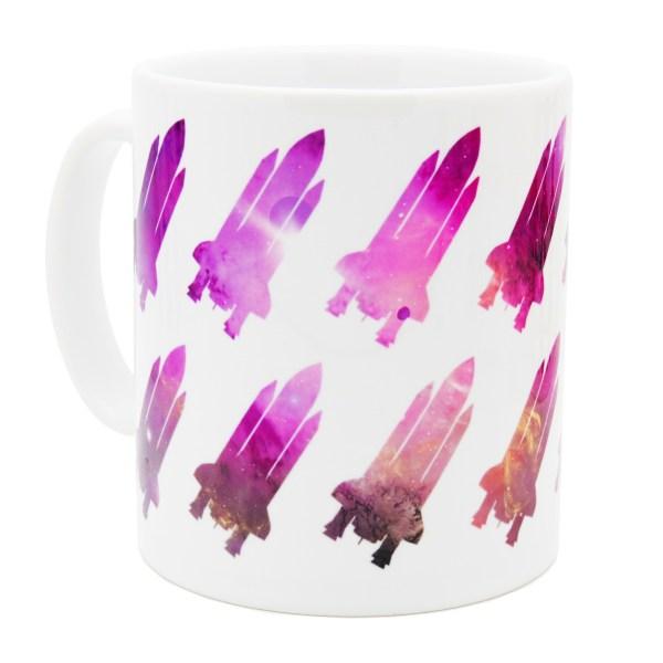 Space shuttle mug pink