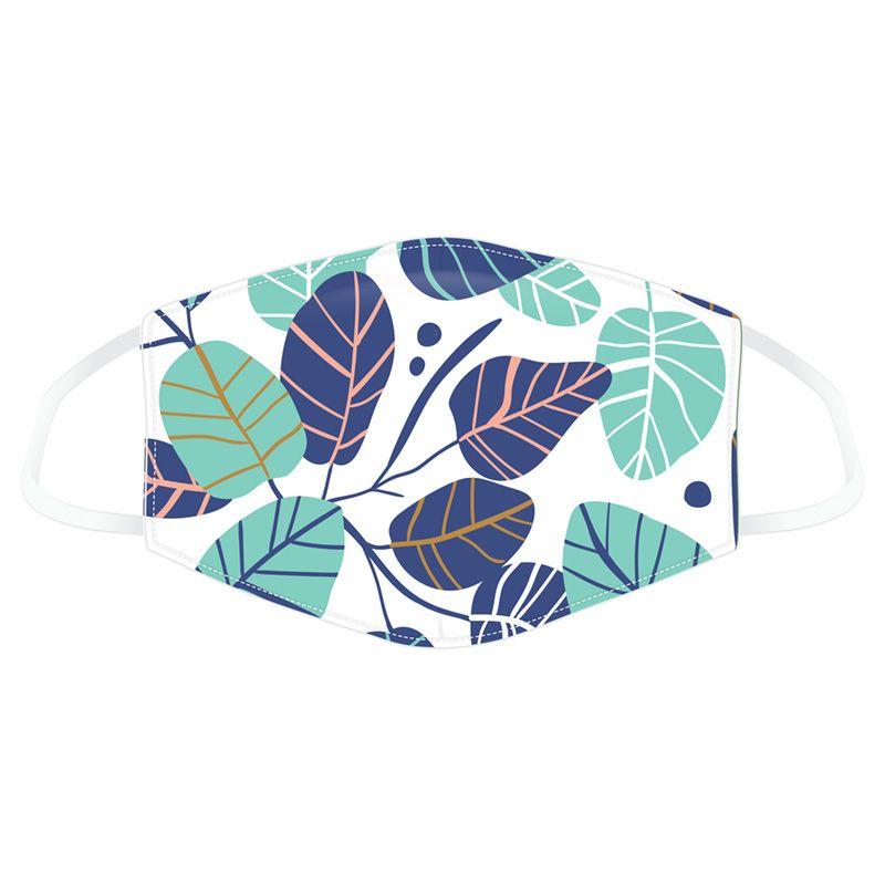 Mask blue green leaves 1