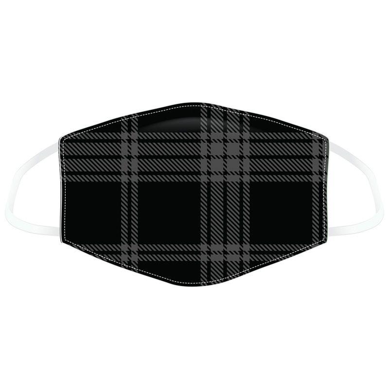 Mask tartan black grey 1